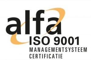 Wabron - ISO 9001 gecertificeerd